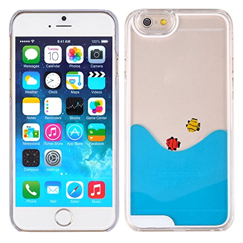 Aquarium Fish Tank Dynamic Liquid Quicksand  Case  For iPhone 6 6S