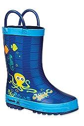 Kamik Octopus Rain Boot (Toddler/Little Kid),Blue,11 M US Little Kid