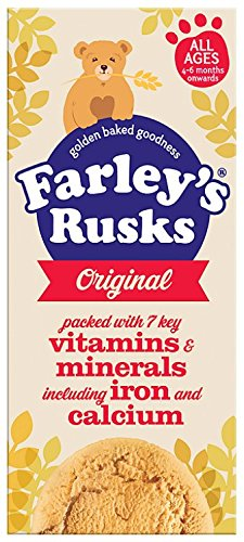 Heinz Farley Rusks, Biscuits For Baby's & Toddlers, 5.3-Ounce Boxes (Pack of 6) - 1