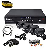 SUNLUXY® Kit Grabador 8 Canales CCTV DVR IR Video Vigilancia de Seguridad Casa
