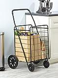 Whitmor Deluxe Rolling Utility / Shopping Cart, Black