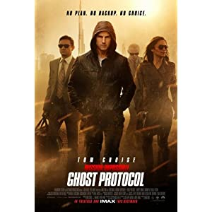 MISSION IMPOSSIBLE GHOST PROTOCOL Beidseitige Filmplakat REGULAR Poster (2011) (Tom Cruise, Jeremy Renner, Simon Pegg ) ORIGINAL-KINOplakat (69cm x 102cm)