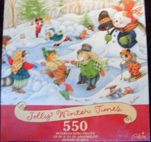 Jolly Winter Times 550 Piece Puzzle - 1