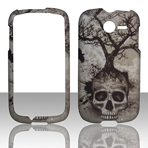 2d-skull-tree-huawei-ascend-y-m866-tracfone-uscellular-case-cover-hard-phone-case-snap-on-cover-rubb