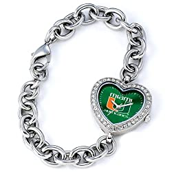 Miami Hurricanes Gametime Heart Bracelet/Watch