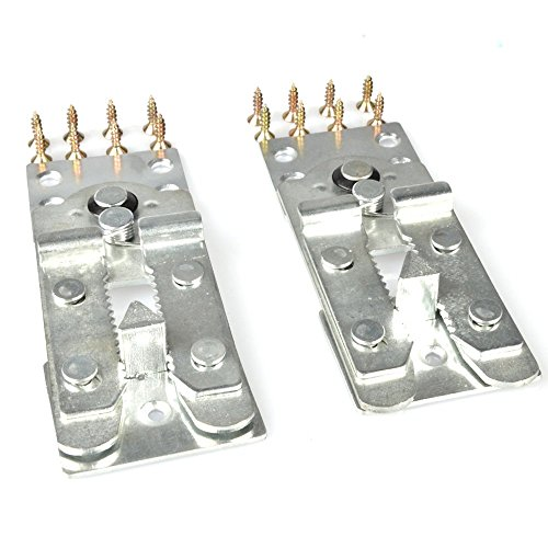 CycleMore 2pcs Sofa Couch Furniture Connector W-Attachment Screws Snap Alligator Style