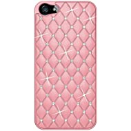 Amzer Diamond Lattice Snap On Shell Case For IPhone 5 (Light Pink )