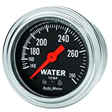 Auto Meter 2431 Traditional Chrome Mechanical Water Temperature Gauge