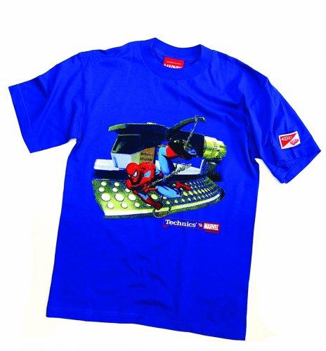 DMC Technics Marvel Spiderman DJ Mens T-Shirt Electric Blue Tm1Ebm Medium