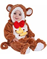 Forum Novelties Baby Boy's Plush Cuddlee Monkey Costume