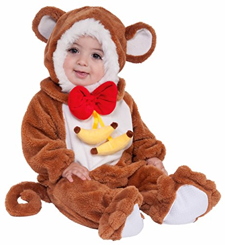 Forum Novelties Baby Boy's Plush Cuddlee Monkey Costume, Multi, 1-2 Years