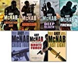 Nick Stone Thriller Collection Andy McNab 7 Books Set (Aggressor, Liberation Day, Last Light, Firewall, Deep Black, Brute Force and Crisis four)