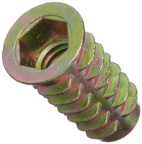 E-Z Lok Threaded Insert, Zinc, Hex-Flanged, 3/8