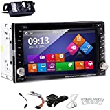 EinCar Windows 8 UI Rear Camera With 6.2-Inch Touch Screen Double Din In Dash Car DVD Player Bundle With GPS Antenna...
