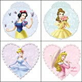 Blue Mountain Wallcoverings 31720447 Princess & Pearls 4-Piece Self-Stick Wall Art