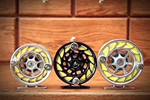 New Hatch 7 Plus Finatic Fly Fishing Reel Black/Silver [Misc.]