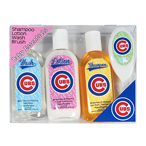MLB Chicago Cubs Baby Gift Set, 7.25 x 5.75 x 1.5-Inch, White