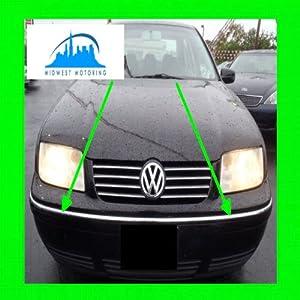 1999-2003 VW VOLKSWAGEN JETTA CHROME BUMPER TRIM 2PC 2000 2001 2002 99