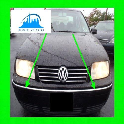 1999-2003 VW VOLKSWAGEN JETTA CHROME BUMPER TRIM 2PC 2000 2001 2002 99 00 01 02 03 (Volkswagen Jetta Back Bumper compare prices)