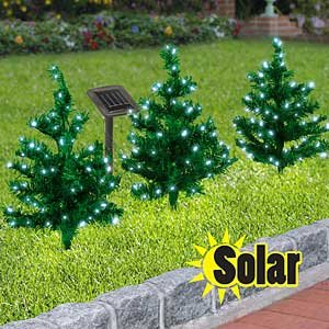 Click to buy Outdoor Christmas Lights: 2 Solar Christmas Path Trees from Amazon!
