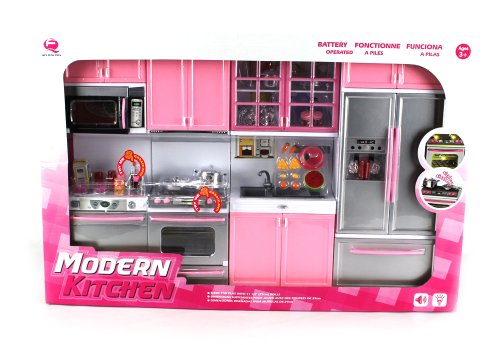 Best 'Deluxe Modern Kitchen' Battery Operated Toy Kitchen