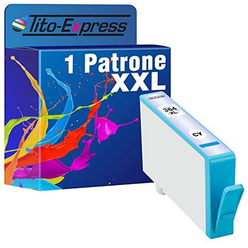 PlatinumSerie® 1x Druckerpatrone XXL mit Chip und Füllstandsanzeige kompatibel zu HP 364 Cyan für HP PhotoSmart Wireless B 109 g,HP PhotoSmart Premium B 210,HP PhotoSmart Premium B 210 a,HP PhotoSmart Premium B 210 b,HP PhotoSmart Premium B 210 c,HP PhotoSmart Premium B 210 e,HP PhotoSmart Premium B 010 a,HP PhotoSmart Wireless e-All-in-One B 110 a,HP PhotoSmart Wireless e-All-in-One B 110 c,HP PhotoSmart Wireless e-All-in-One B 110 d