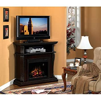 "Advantage Corinth 42"" TV Stand with Electric Fireplace Finish: Vintage Cherry"