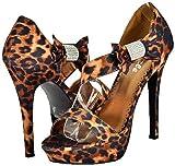 Pazzle Joyce-01 Leopard Women Platform Sandals