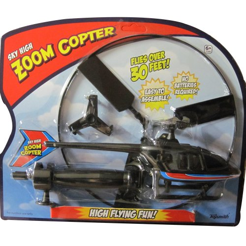 Sky High Zoom Copter - Flies Over 30 Feet - No Batteries Required!