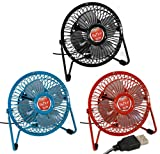 "GeekTEK USB Retro 4"" Mini Desktop Fan - Assorted Colors"