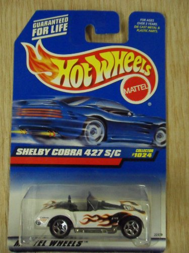 Hot Wheels Shelby Cobra 427 S/C White W/ Flames #1024 Die-Cast Car - 1