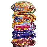 Krystle Multicolor Printed Single Bed Fleece Blanket Set Of 5