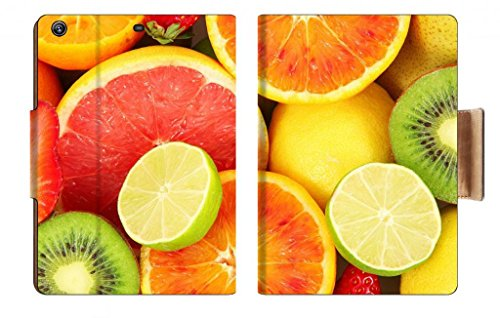 Vitamin C Fresh Healthy Fruit Slices Orange Pomelo Grapefruit Kiwi Lemon Strawberry Pear Punktail'S Collections Apple Ipad Air Retina Display 5Th Flip Case Stand Smart Magnetic Cover Made To Order Premium Deluxe Pu Leather