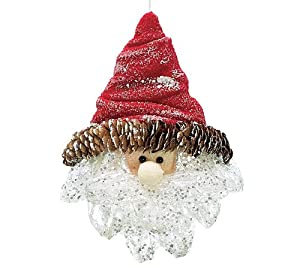 Santa Face With Pinecone Christmas Ornament