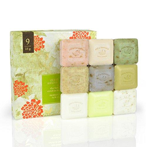法国原产 普罗旺斯 Pre de Provence 礼盒装 草本香皂 25g*9块