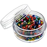 """6pc Screw-Top Clear Acrylic Bead Jars Containers 20ml - 1-3/4"""" x 1"""""""