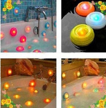 DASHUHUWAI Color Change Floating LED Pond Pool Spa Hot Tub Night Light 1pcs Color Changing Christmas LED Spa Lights Bath Hot Tub Pool