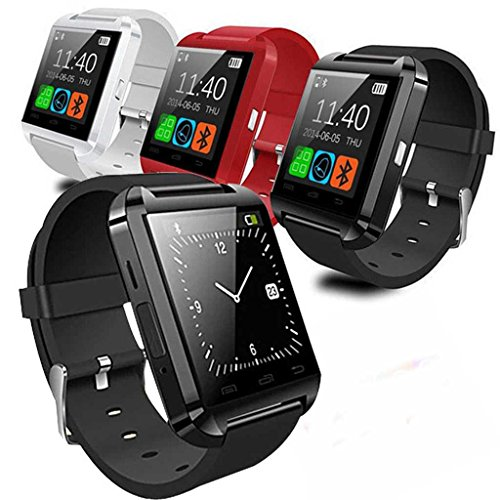 2014 Luxury U8 Bluetooth Smart Watch WristWatch Phone with Camera Touch Screen for IOS Iphone Android Smartphone Samsung Smartphone (Red)