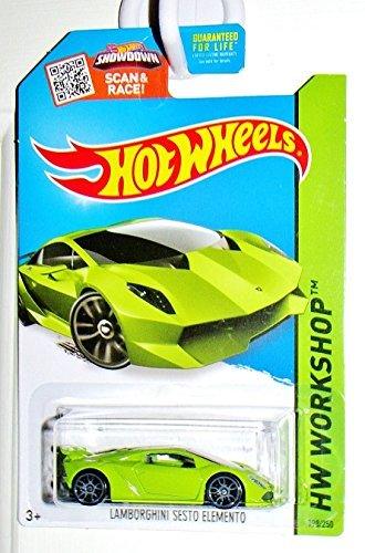 Hot Wheels, 2015 HW Workshop, Lamborghini Sesto Elemento [Lime Green] Die-Cast Vehicle #198/250 (Die Cast Sesto Elemento compare prices)
