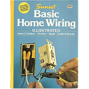 basic home wiring illustrated sunset books linda j. Black Bedroom Furniture Sets. Home Design Ideas
