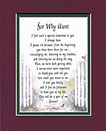A Poem Gift 60th 70th 80th Birthday Present For A Favorite Aunt, #66,
