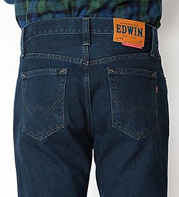 (エドウィン)EDWIN 402-377:ブルーブラック  インターナショナルベーシック 細めのストレート 股上深め (32インチ, 377:ブルーブラック)