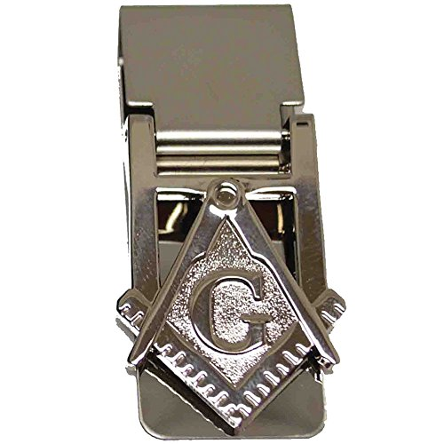 Stainless Steel Masonic Money Clip With Square And Compass Freemason Symbol
