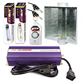 Apollo Horticulture GLK600LS24 600 Watt Grow Light Digital Dimmable HPS MH System for Plants Air Cool Hood Set