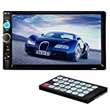 Suncer 2 DIN 7'' Inch LCD Touch Screen Car Radio Player Support Bluetooth Hands Free 1080P Movie Rear View Camera (7010B)
