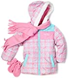 51w9dfNXMJL. SL160  Pacific Trail   Kids Girls 2 6X Plaid Colorblock Scarf Jacket, Pink, 4T
