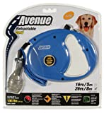 Avenue Retractable 26' Corded Leash for Dogs, Large, Blue