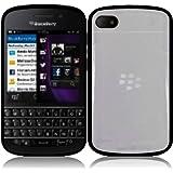 For Blackberry Q10 PC+TPU Cover Case Clear/Black Accessory