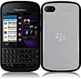 For Blackberry Q10 PC+TPU Cover Case Clear/Black Accessory