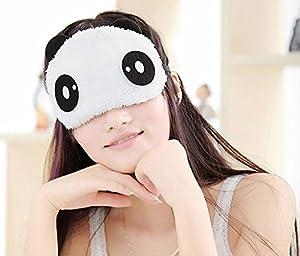 快適睡眠 パンダ アイマスク もこもこ 起毛 選べるデザイン (目)
